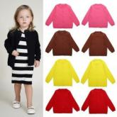 Baby Children Clothing Boys Girls Candy Color Knitted Cardigan Sweater Kids Spring Autumn Cotton Outerwear 13 Colors