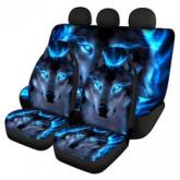 1/2/7PCS Car Seat Cover Auto Seat Protector Wolf Pattern Universal Fit For SUV