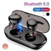 TWS4 Bluetooth 5.0 Wireless Headphones Touch Mini In-Ear Buds w Charging Bin