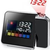 LCD Digital Weather Thermometer Projection Alarm Clock