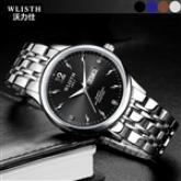 Men's Stainless Steel Quartz Watch with Luminus Hands